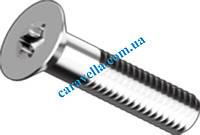 DIN 7991, винты под ключ TORX с потайной головкой и неполной резьбой