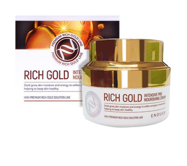 Питательный крем с золотом  Enough Rich Gold Intensive Pro Nourishing Cream, 50 ml