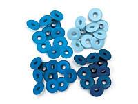 Люверсы We R Memory Keepers, Wide Eyelets - Aluminum Blue, 4,7 мм, 40 шт