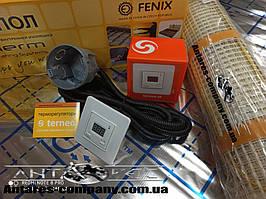 Двухжильный греющий мат In-Term (Fenix, Чехия) тонкий кабель  5,3 м.кв 1080 вт серия Terneo ST ( Спец цена)