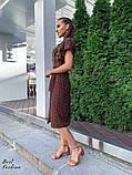 Летнее  платье  на запах в горошек с мягкой драпировкой на талии, 5цветов, Р-р.42-44,44-46 Код 438Ц, фото 4