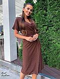 Летнее  платье  на запах в горошек с мягкой драпировкой на талии, 5цветов, Р-р.42-44,44-46 Код 438Ц, фото 5