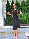 Летнее  платье  на запах в горошек с мягкой драпировкой на талии, 5цветов, Р-р.42-44,44-46 Код 438Ц, фото 7