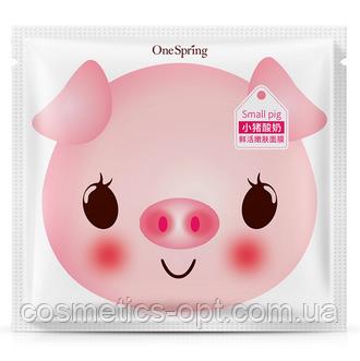 Плацентарная маска для лица с йогуртом ONE SPRING SMALL PIG YOGURT MOISTURIZING MASK