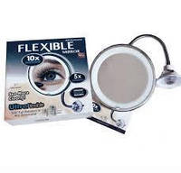 Гибкое зеркало для макияжа с LED подсветкой Ultra Flexible Mirrorr с увеличением 10X