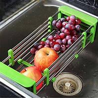 Многофункциональная выдвижная сушилка на кухонную раковину Kitchen Drain Shelf Rack