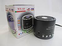 Мини колонка портативная WS-A8 с MP3, USB и FM-pадио