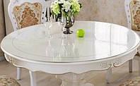 Мягкое стекло Прозрачная силиконовая скатерть на стол Soft Glass Защита для мебели 2.9х1.0м (толщина 1.5 мм)