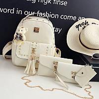 Набор женских сумок 4 в 1 Teddy Back Pack Bag
