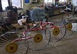 Грабли солнышко на минитрактор 4 колеса (колесо Ø1200мм, спица Ø6мм), фото 4