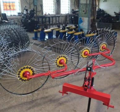 Грабли солнышко на минитрактор 4 колеса (колесо Ø1200мм, спица Ø6мм)