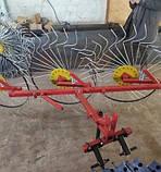 Грабли солнышко на минитрактор 4 колеса (колесо Ø1200мм, спица Ø6мм), фото 6