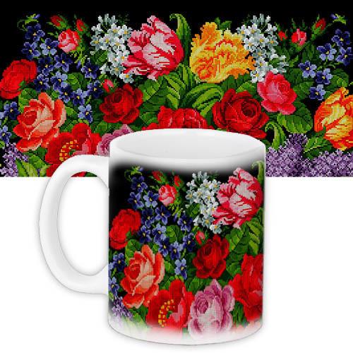 Чашка Букет цветов