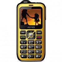Мобильный телефон Astro B200 RX Black Yellow