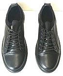 Универсальные Женские кожаные кеды Большие размеры спортивные туфли без шнурков на резинках Mante PRO!, фото 5
