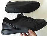 Универсальные Женские кожаные кеды Большие размеры спортивные туфли без шнурков на резинках Mante PRO!, фото 2