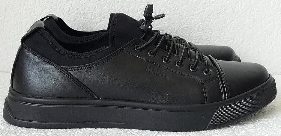 Универсальные Женские кожаные кеды Большие размеры спортивные туфли без шнурков на резинках Mante PRO!