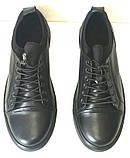 Универсальные Женские кожаные кеды Большие размеры спортивные туфли без шнурков на резинках Mante PRO!, фото 4
