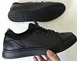 Универсальные Женские кожаные кеды Большие размеры спортивные туфли без шнурков на резинках Mante PRO!, фото 7