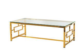 Журнальный столик CL-1 прозрачный + золото от Vetro Mebel