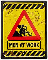 """Металлическая / ретро табличка """"Дорожные Работы / Men At Work"""""""