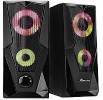 Колонки компьютерные XTRIKE ME RGB Backlight SK-501, черные