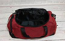 Спортивная сумка суприм, Supreme. Дорожная. Для тренировок. Бордовая с черным, фото 3