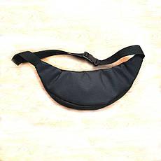 Черная Поясная сумка, Бананка, барсетка Адидас, adidas., фото 3