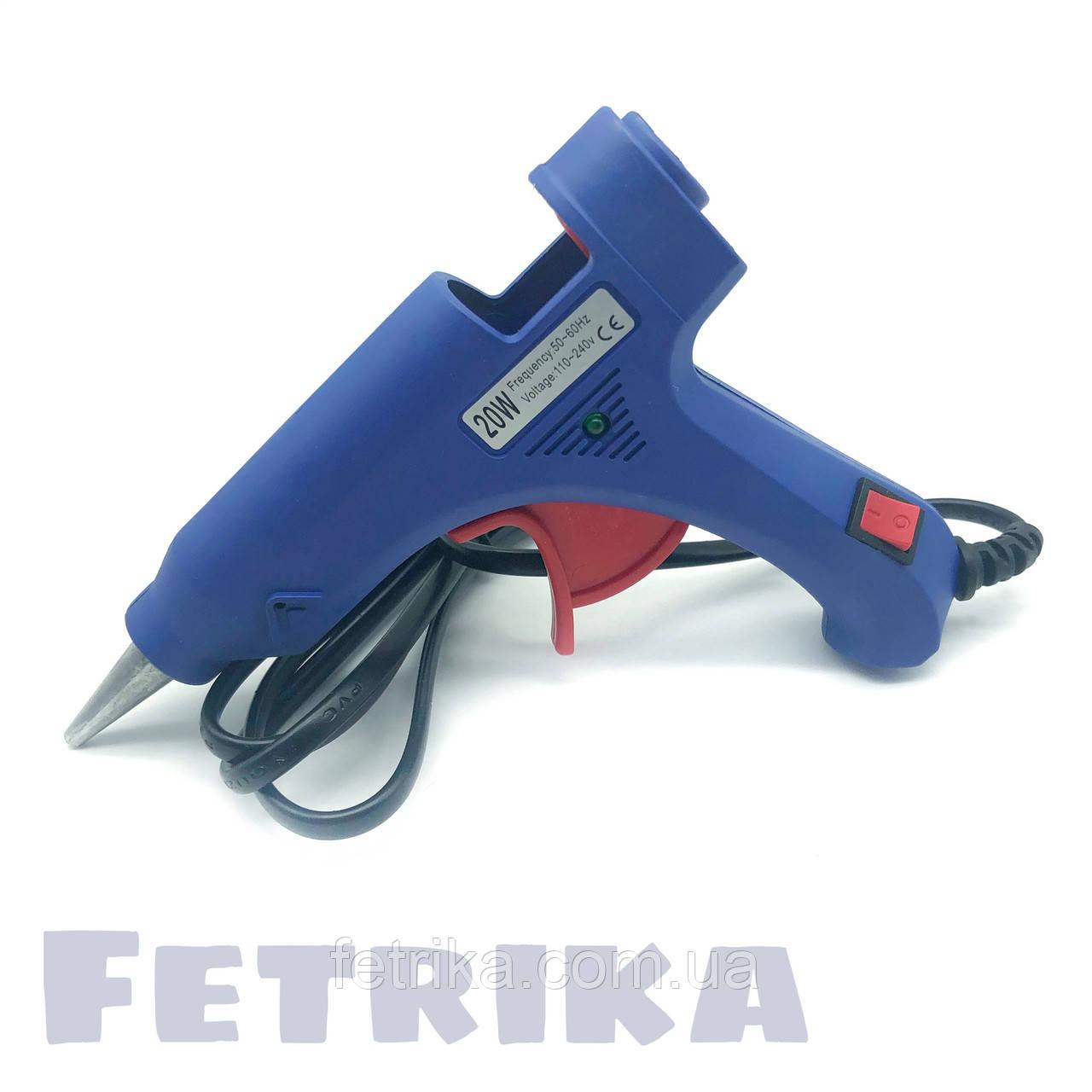 Пистолет клеевой электрический HELI с кнопкой (для клеевых стержней D7 мм)