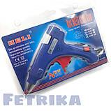 Пистолет клеевой электрический HELI с кнопкой (для клеевых стержней D7 мм), фото 3