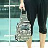 Тактическая сумка-рюкзак, барсетка, бананка на одной лямке, пиксель., фото 2