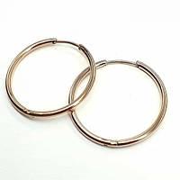 Сережки-кільця з медичної сталі жіночі Харизма 3-5 см 176120, фото 1
