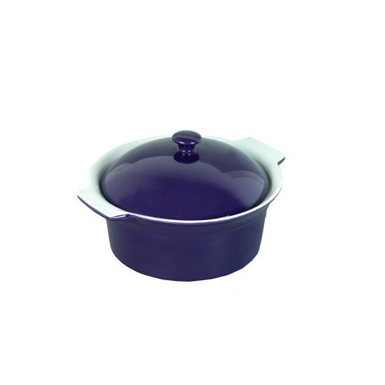 Каструля керамічна Kamille Синій для запікання 2.0 л з кришкою KM-6107