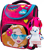 Рюкзак школьный для девочек DELUNE 3-174 розово-голубой