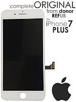 Дисплейный модуль для iPhone 7 Plus белый оригинал (LCD экран, тачскрин, стекло) White ORIGINAL