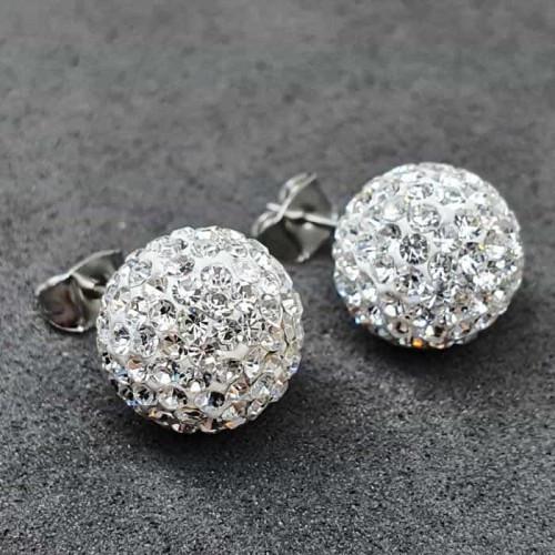 Серьги гвоздики с кристаллами Swarovski 11,5 мм 176122