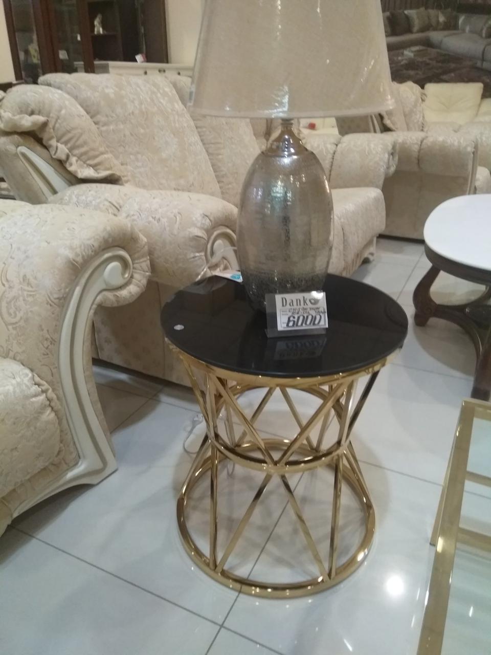 Кофейный столик CH-1 черный + золото от Vetro Mebel