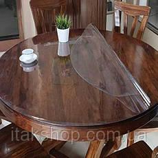 Силіконове м'яке скло Прозора захисна скатертини для столу і меблів Soft Glass (2.3х1.0м) товщина 1.5 мм, фото 3
