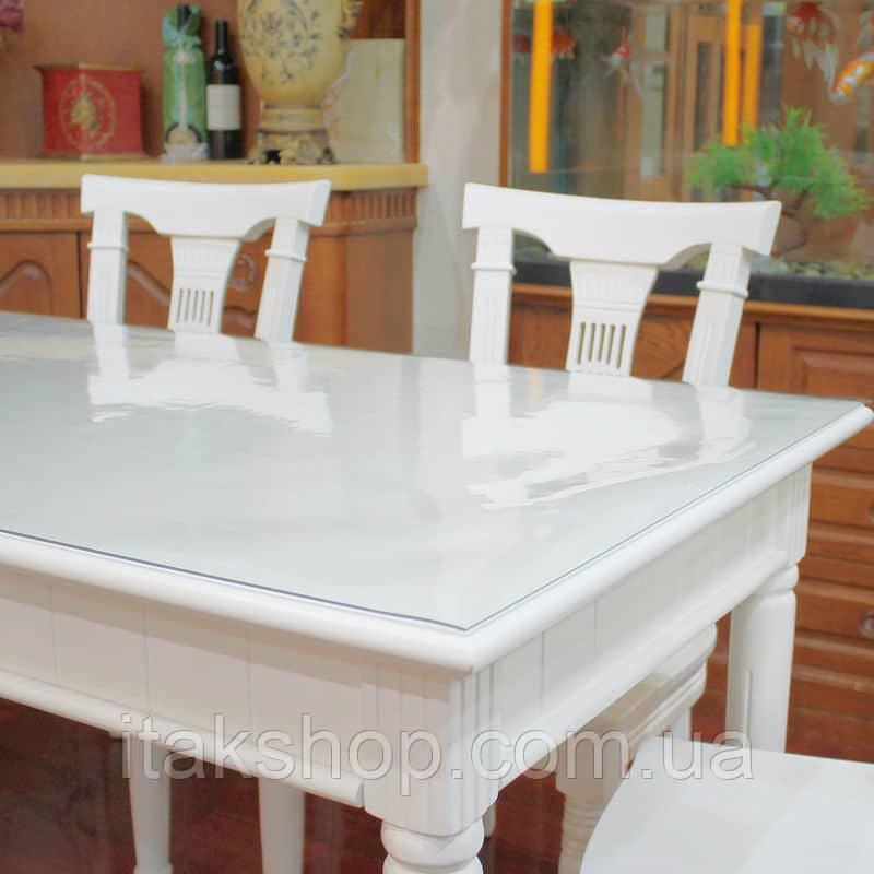 Силіконове м'яке скло Прозора захисна скатертини для столу і меблів Soft Glass (2.3х1.0м) товщина 1.5 мм