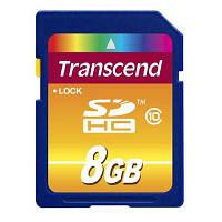 Карта памяти Transcend 8Gb SDHC class 10 (TS8GSDHC10)