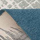 Ковер современный VISTA 131305 1,6Х2,3 Голубой прямоугольник, фото 5
