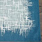 Ковер современный VISTA 131305 1,6Х2,3 Голубой прямоугольник, фото 4
