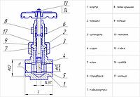 Задвижки ЗК300/210-100-М Ду300 Ру100 (2с-Э-4)