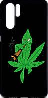Чехол-накладка TOTO Cartoon Soft Silicone TPU Case для Huawei P30 Pro Cannabis Black 97106, КОД: 1295516