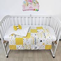 Одеяльце - конверт на выписку с бантиком на резиночке - Зимнее-теплое - 100*80см - в желто-белых тонах