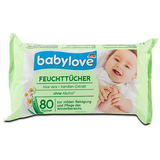 Влажные гигиенические салфетки Babylove Feuchttücher, 80 шт