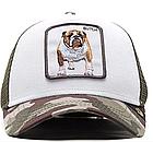 Кепка Бейсболка Тракер с сеткой Goorin Brothers Animal Farm Butch с Бульдогом Камуфляж Хаки, фото 3