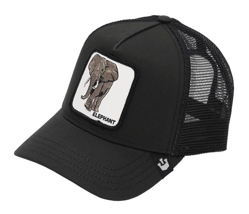 Кепка Бейсболка Тракер с сеткой Goorin Brothers Animal Farm Elephant со Слоном Черная