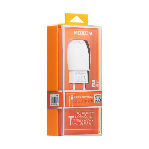 Сетевое Зарядное Устройство Moxom KH-34 Micro (Белый)