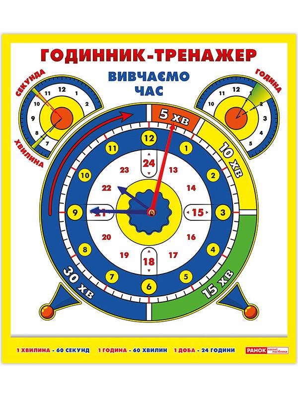 Годинник-тренажер. Вивчаємо час